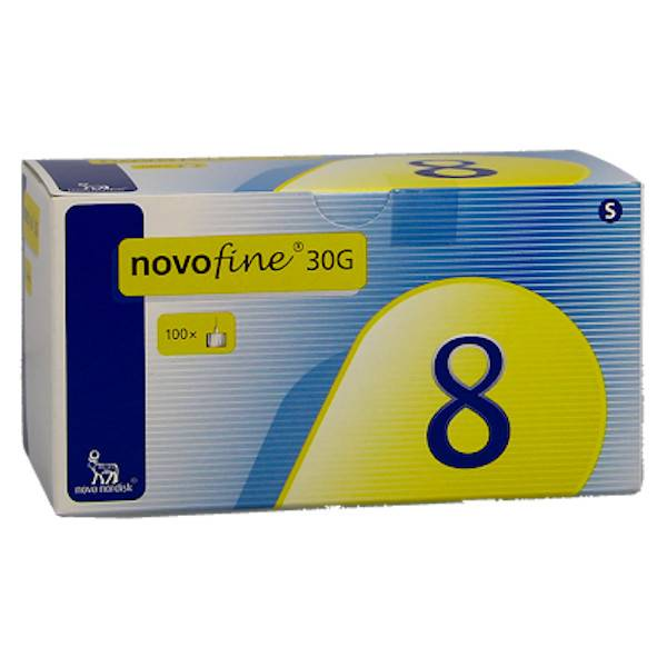 novo nordisk aiguille novofine 30g (0,3mm) / 8mm pour stylo injecteur et système d'injection innolet / innovo 100 unités
