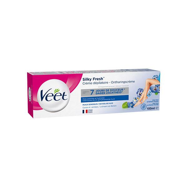 Veet Silky Fresh Crème Dépilatoire Peaux Sensibles 100ml