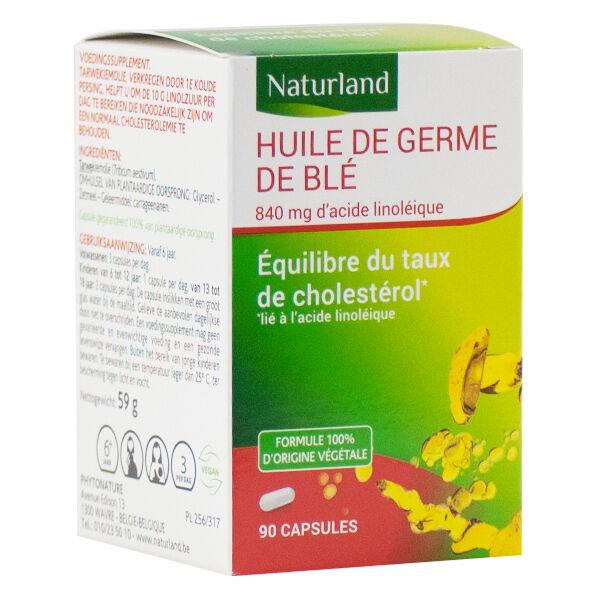 Naturland Huile de Germe de Blé 90 capsules