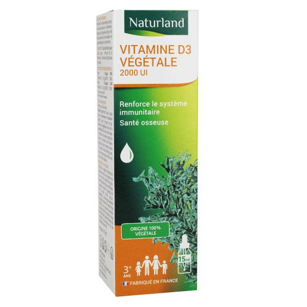 Naturland Vitamine D3 Végétale 2000UI 15ml