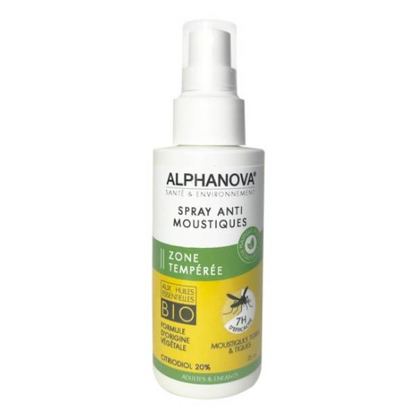 Alphanova Anti Moustique Zone Tempérée Spray 75ml