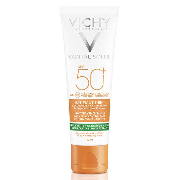 Vichy Capital Soleil Crème Solaire Visage Matifiante 3 en 1 SPF50+ 50ml