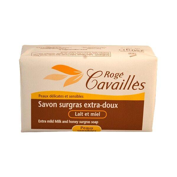 Rogé Cavaillès Savon surgras Extra Doux Lait et Miel 250g