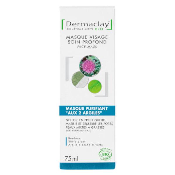 Dermaclay Masque Purifiant aux 2 Argiles 75ml