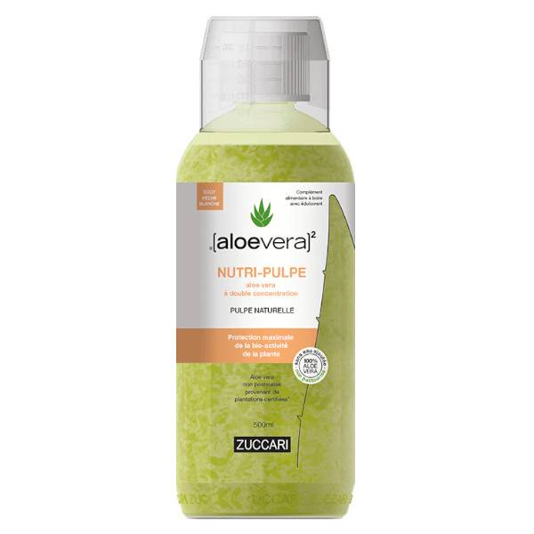 Aloevera Nutri Pulpe Goût Pêche Blanche Bouteille 500ml