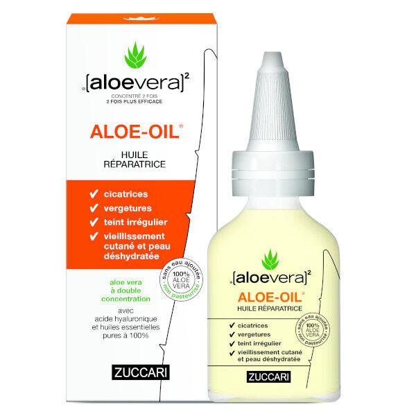 (aloevera)2 Zuccari Aloevera Zuccari Aloe Oil Huile Réparatrice Flacon 50ml