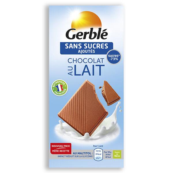 Gerblé Sans Sucres Ajoutés Chocolat au Lait 80g