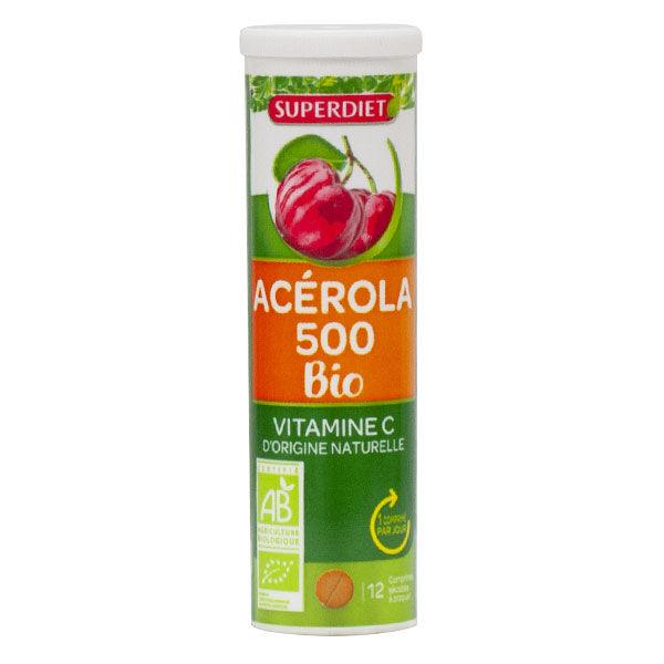 Super Diet Acérola 500 Bio 12 comprimés à croquer