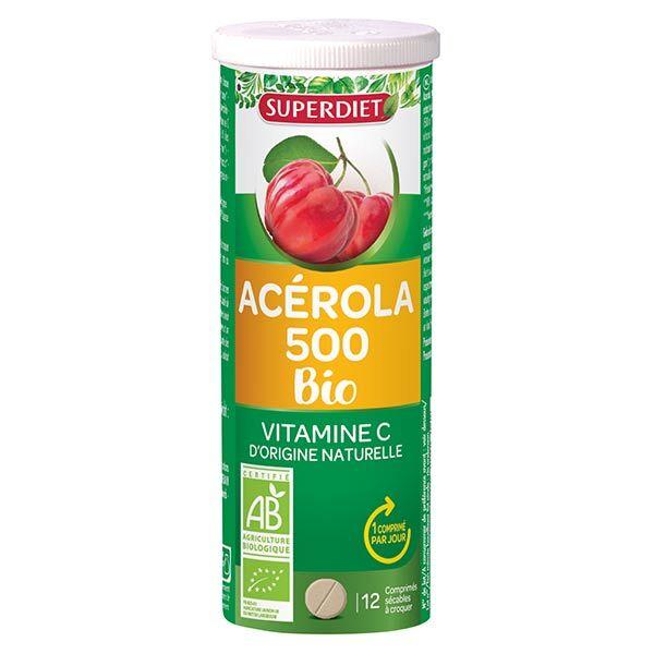 Superdiet Acérola 500 Bio 12 comprimés à croquer