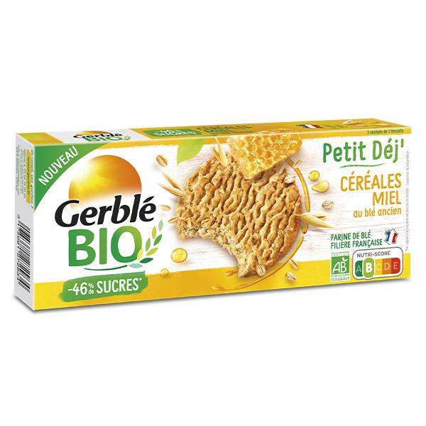 Gerblé Bio Biscuit Petit Dej' Céréales & Miel 132g