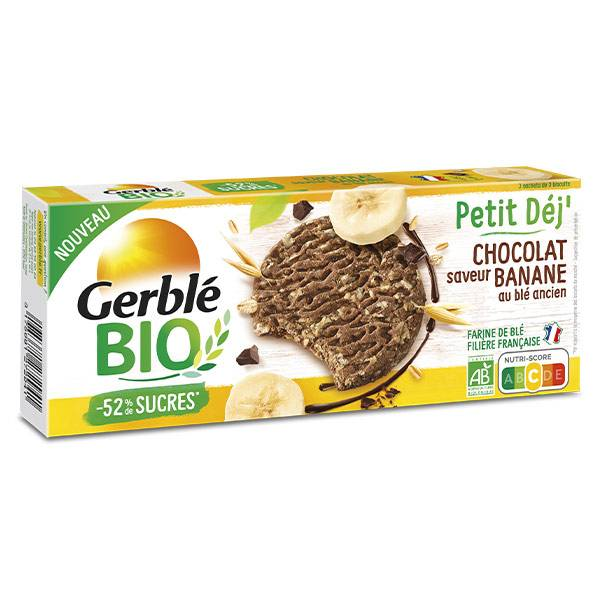 Gerblé Bio Biscuit Petit Dej' Choco Banane 132g