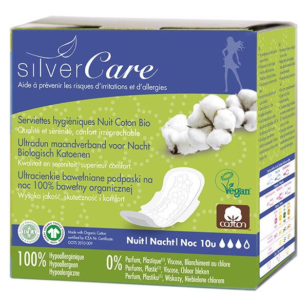 Silvercare Silver Care Serviette Ultra-Fine Nuit 10 unités