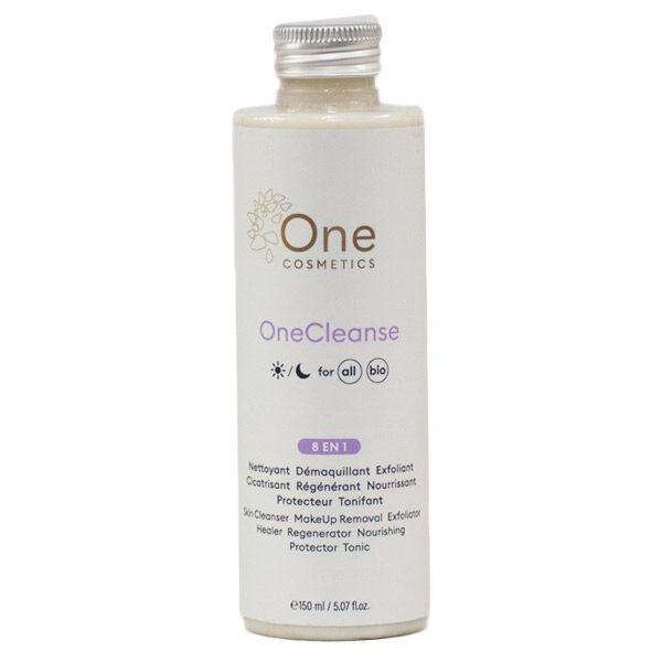 Mint-e One Cosmetics OneCleanse Lait Démaquillant 8 en 1 Bio 150ml