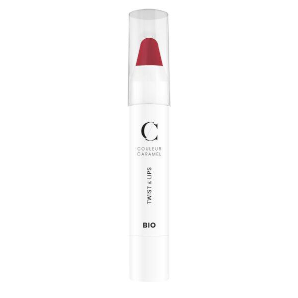 Couleur Caramel Twist & Lips Crayon à Lèvres Bio N°404 Rose de Rouge 3g