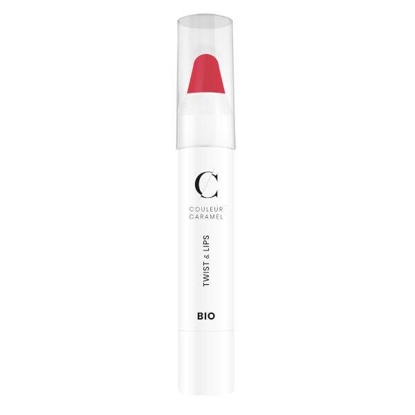Couleur Caramel Twist & Lips Crayon à Lèvres Bio N°411 Rose 3g