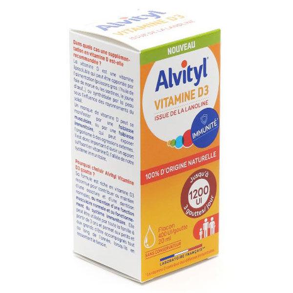 Alvityl Vitamine D3 Gouttes 20ml