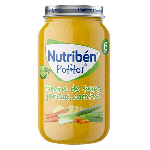 Nutribén Potitos Pomme de Terre Poireau Carotte +6m 235g