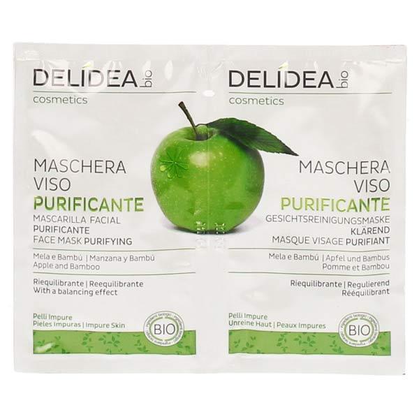 Delidea Pomme & Bambou Masque Visage Purifiant Bio 2 x 10ml