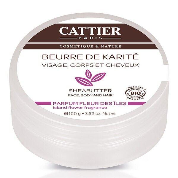 Cattier Beurre de Karité Parfum Fleur des Iles 100g