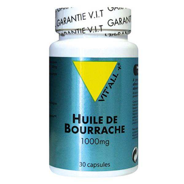 Vit'all+ Huile de Bourrache 1000mg 30 capsules