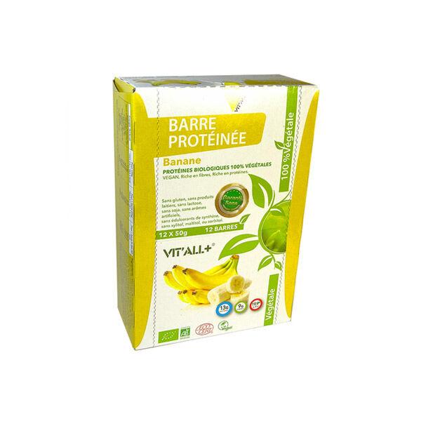 Vit'all+ Barre Protéinée Végan Bio Banane 50g
