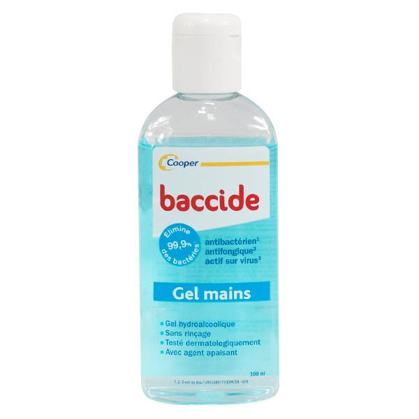Cooper Baccide Gel Mains Hydroalcoolique Bleu 100ml