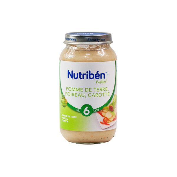Nutribén Potitos Pomme de Terre Poireau Carotte +6m 250g