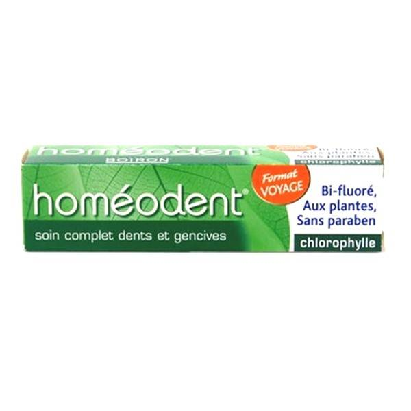 Boiron Homéodent Dentifrice Soin complet dents et gencives Chlorophylle Format Voyage 25ml