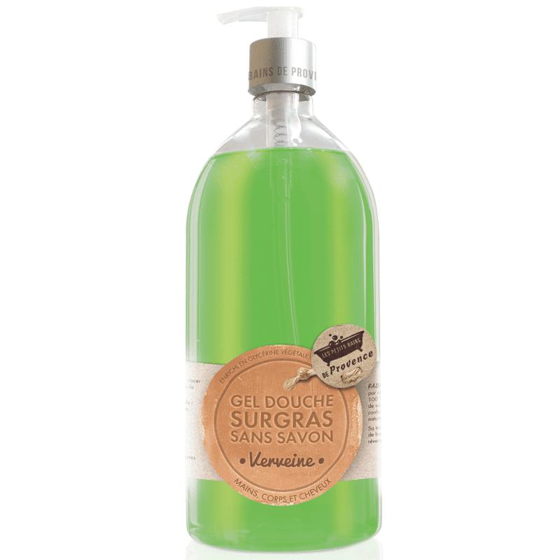 Les Petits Bains de Provence Gel Douche Surgras sans savon Verveine 1L