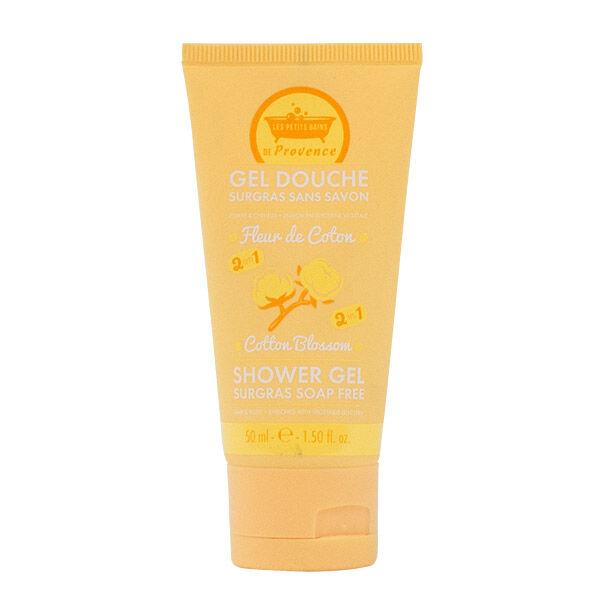 Les Petits Bains de Provence Gel Douche Surgras sans savon Fleur de Coton 50ml