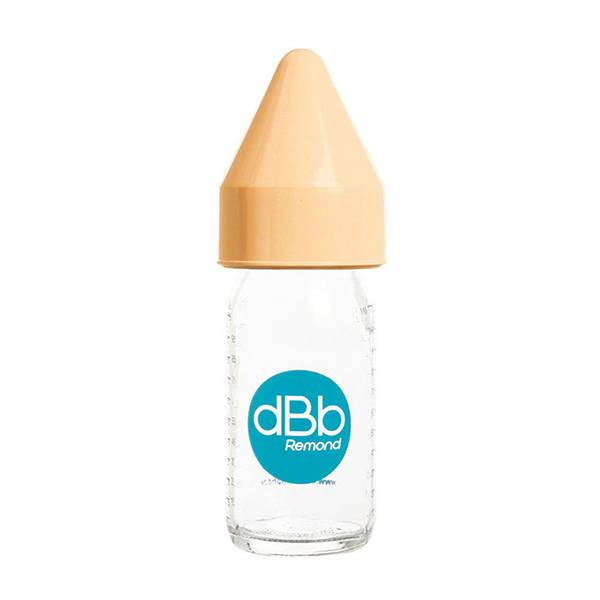 7121002 dBb Remond Biberon Jus de Fruit Régul'Air Verre Caramel 110ml