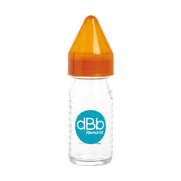 7121757 dBb Remond Biberon Jus de Fruit Régul'Air Verre Orange Translucide 110ml