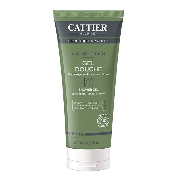 9540494 Cattier Homme Gel Douche Cabine de Bain 200ml