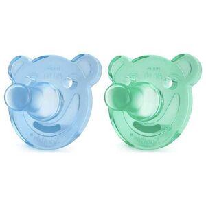 Avent Sucette Silicone Soothie Bleue Verte 0-3m Lot de 2 - Publicité