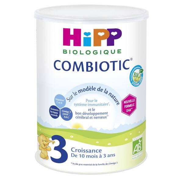 Hipp Bio 3 Lait Combiotic Croissance 10m-3ans 800g