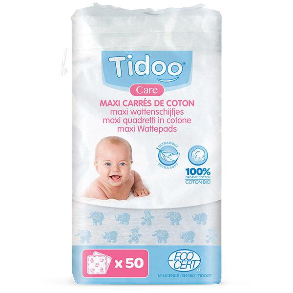 Tidoo Maxi-Carrés de Coton Bio 50 cotons
