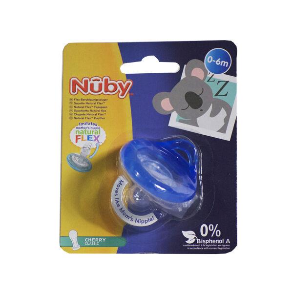 Nuby Sucette Natural Flex Cherry Classic Bleu 0-6 mois
