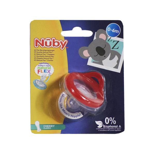 Nuby Sucette Natural Flex Cherry Classic Rouge 0-6 mois