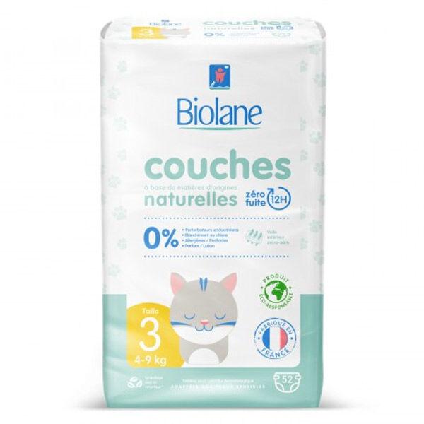 Biolane Couches Naturelles T3 (4-9 kg) 52 Couches