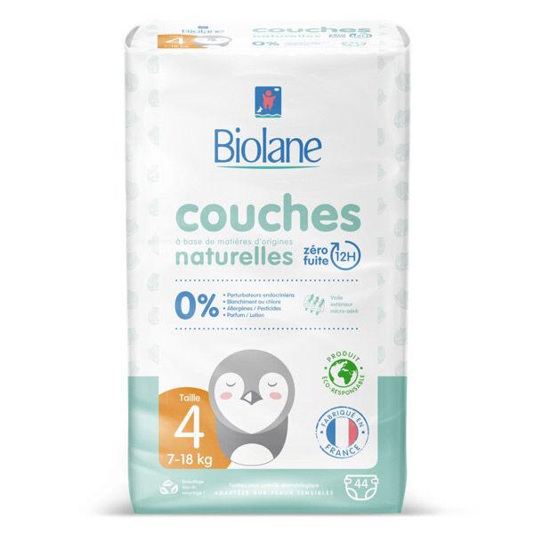 Biolane Couches Naturelles T4 (7-18 kg) 44 couches