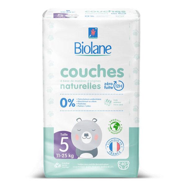 Biolane Couches Naturelles T5 40 Couches