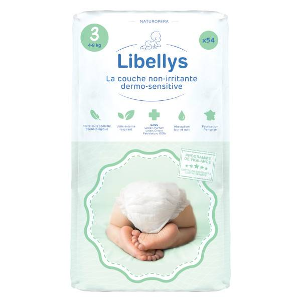 Libellys Couches Non-Irritantes Dermo-Sensitives T3 (4-9 kg) x 54
