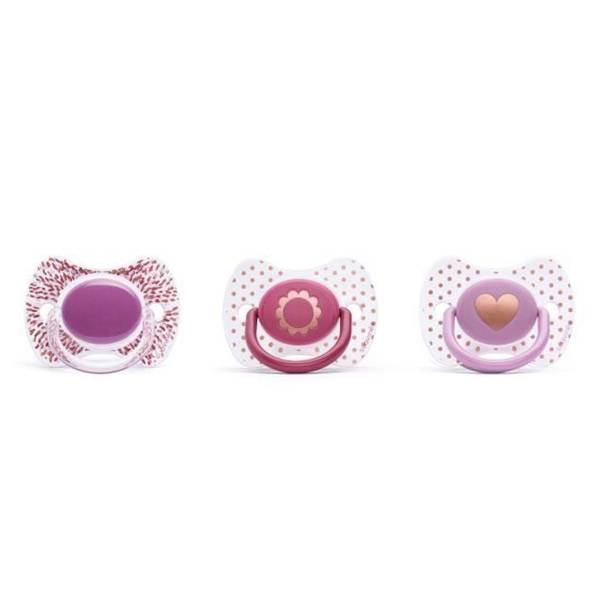 Suavinex Sucette Silicone Revers Couture Violet Uni 0-4m