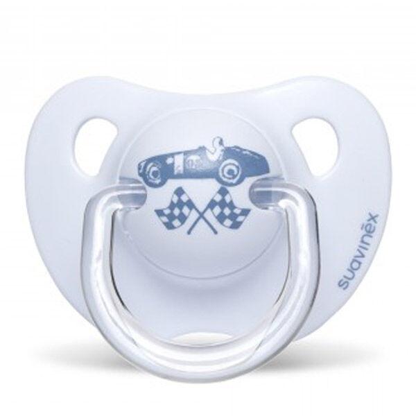 Suavinex Sucette Silicone Physio Voiture Bleu 0-6m