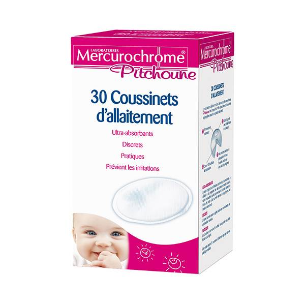 Mercurochrome Pitchoune Coussinets d'Allaitement 30 coussinets