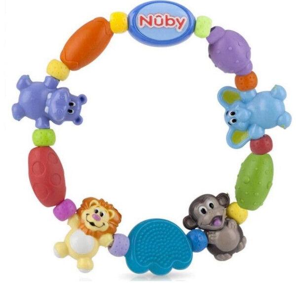 Nuby Anneau de Dentition Animaux Zoo +3 mois