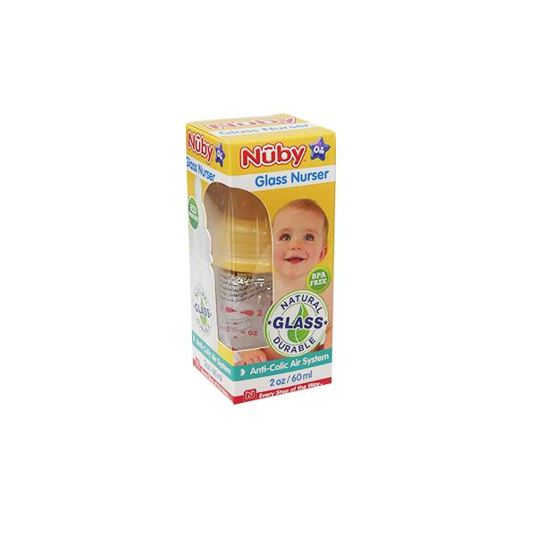 Nuby Biberon Verre Orange +0m 60ml