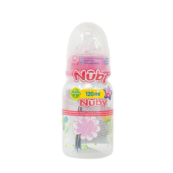 Nuby Biberon PP Débit Lent Fleurs 0-12m 120ml