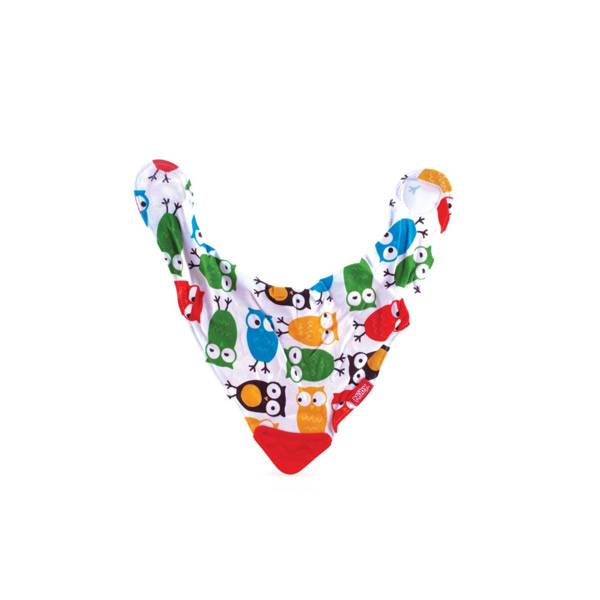 Nuby Bavoir Avec Coin de Dentition Motifs Chouettes +3 mois