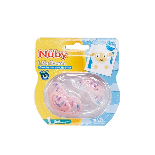 Nuby Sucettes Phosphorescentes Little Moments Apple 0-6m Lot de 2